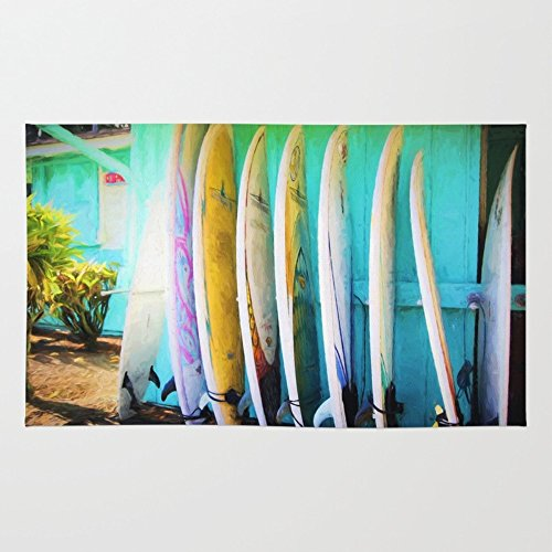 Society6 Surfboards Rug 4' x 6'