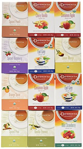 Davidson's Tea Assorted Classics, 8-Count Tea Bags (Pack of 12)