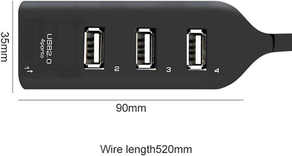 Heaven201174 Ports USB 2.0 Super Speed 480Mbps Hub Splitter Adapter for PC Laptop