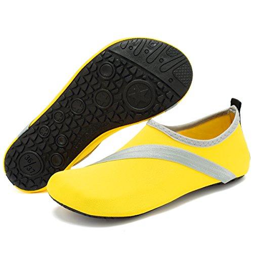Yoga Shoes Pool Quick Water Unisex Exercise VIFUUR Men Beach Newyellow Women Drying For Shoes Aqua qS8RC