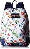 JanSport Womens Classic Specialty Black Label Superbreak Backpack - Multi White Mountain Meadow / 16.7H X 13W X 8.5D