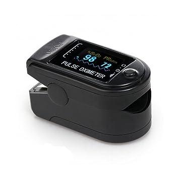 CMS50D Pulsioxímetro de dedo con pantalla OLED y blyl accesorios: Amazon.es: Salud y cuidado personal
