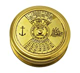 100 Years Pocket Calendar Compass 2.5 inch Pocket Compass with Dorpmarket Special Designed (Round Base [ 2.5 inch ])