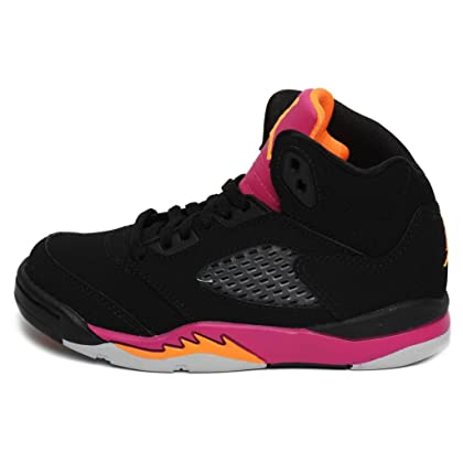 96252a3f4f22 comNike Air Jordan 5 Retro (PS) Girls Basketball Shoes 440893-067 Black 11  M US