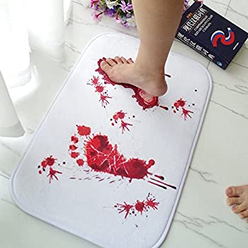 Amazon Com Spinning Hat Blood Bath Bath Mat Home Amp Kitchen