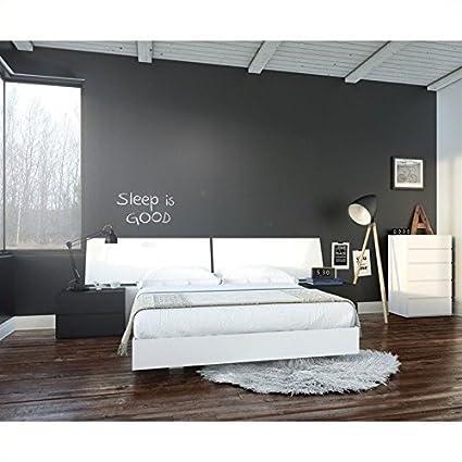 Amazon.com: Nexera Melrose 5 Piece Queen Bedroom Set in ...