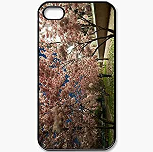 Protective Case Back Cover For iPhone 4 4S Case Park Trees Black