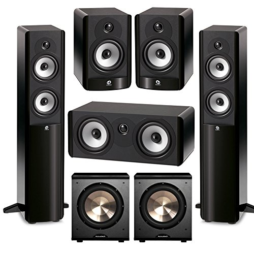 Boston Acoustics 5.2 System with 2 A250 Floorstanding Speakers, 1 A225C Center Channel Speaker, 2 A25 Bookshelf Speakers,