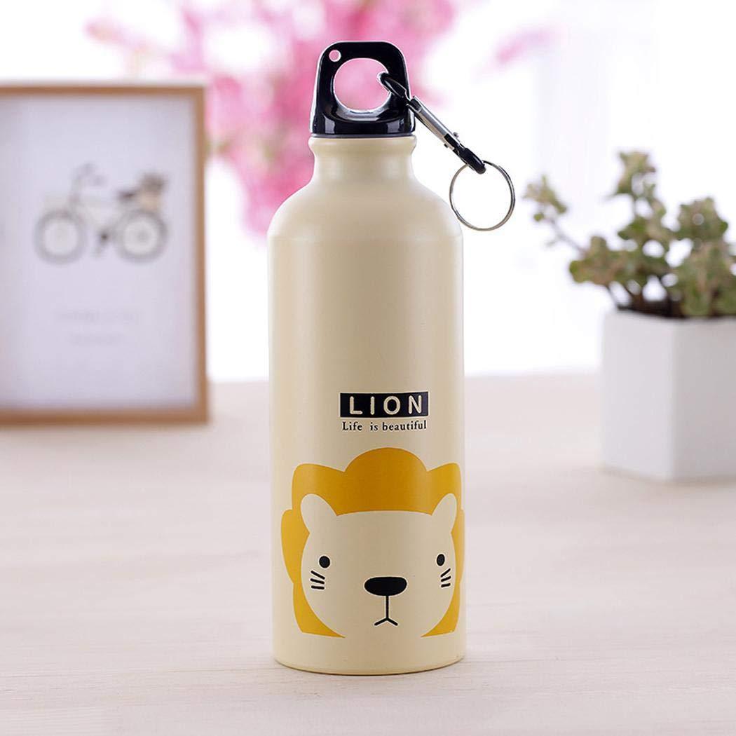 Koede Botella de agua termo de la taza del termo de la aleacin de aluminio del patrn animal de la historieta 500mL Teteras