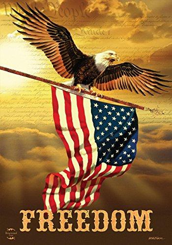 Briarwood Lane Freedom Patriotic House Flag Bald Eagle USA 28