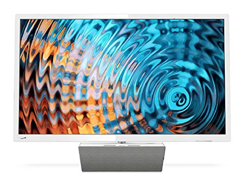 Philips Smart TV LED Full HD Ultrafino 32PFS5863/12, Televisor, HDMI/LAN/USB, 32 pulgadas, Blanco con base premium de…