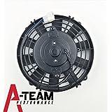 "A-Team Performance 120021 8"" HIGH PERFORMANCE 1700 CFM 12V ELECTRIC RADIATOR COOLING FAN - REVERSABLE FLAT BLADE 10 BLADE"