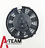 A-Team Performance 120021 8'' HIGH PERFORMANCE 1700 CFM 12V ELECTRIC RADIATOR COOLING FAN - REVERSABLE FLAT BLADE 10 BLADE