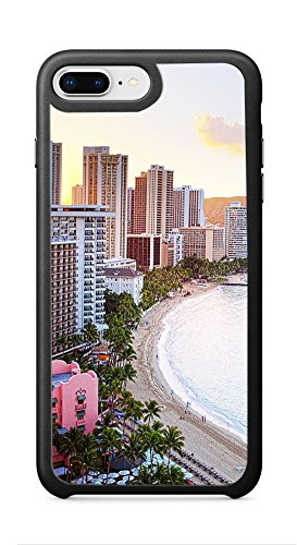 VUTTOO Case for Apple iPhone 8 Plus 5.5inch (Not Fit 4.7inch) - Waikiki Beach Hawaii Case - Shock Absorption Protection Phone Cover (Waikiki Halloween)