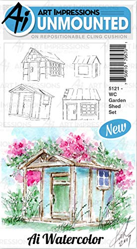 (Art Impressions Watercolor Cling Rubber Stamps-garden)
