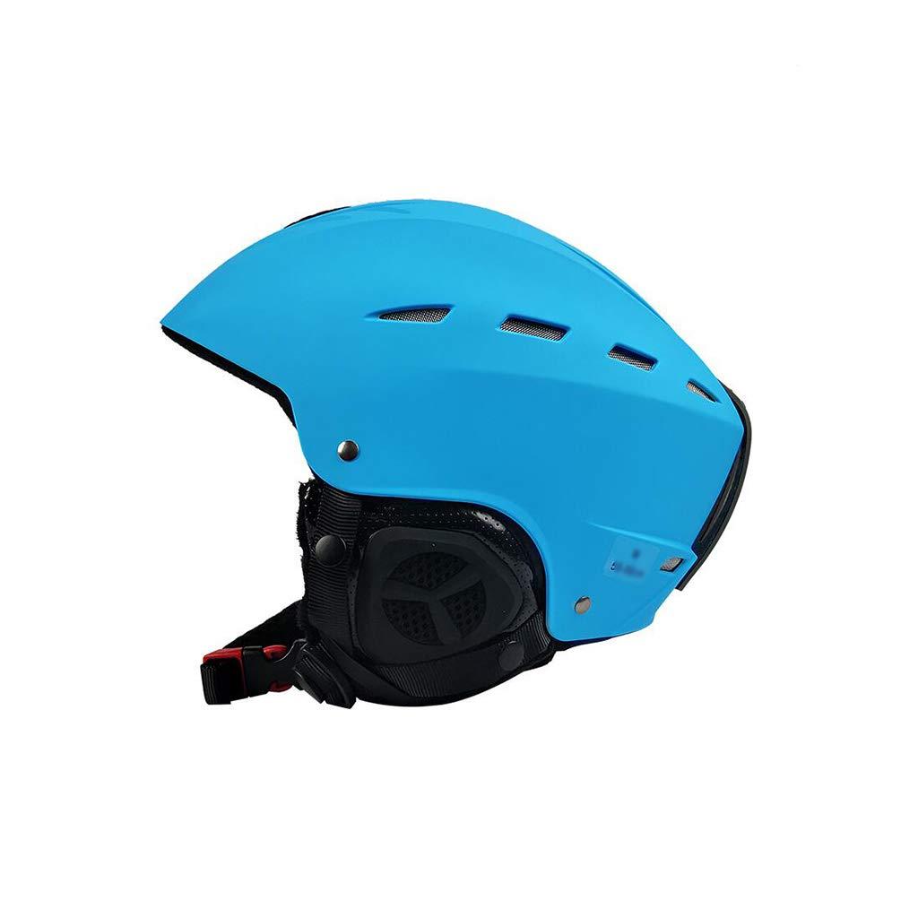 ヘルメットスキー&スノーボード用ヘルメット、スキー用保護安全帽男性女性スケートボードスケート用ヘルメット調節可能なヘッドバンドA(カラー:ブルー、サイズ:L)