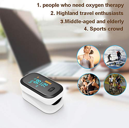 Portable Fitness Oxygen Monitor,Rechargeable Battery PR and SP02 Sports Reading Monitor for Mountaineering, Running, Cycling, Fitness