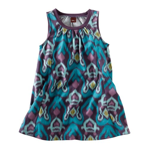 Tea Collection Baby Girls' Tidepool Trapeze Dress, Acai, Large