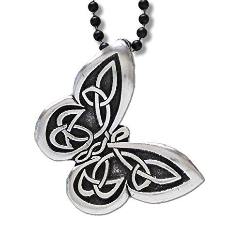 - Butterfly Pendant Necklace - Celtic Knot