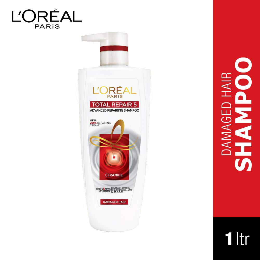 L'Oreal Paris Total Repair 5 Shampoo, 1 Litre