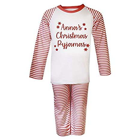 Personalizado Navidad regalos Navidad, infantil con forma de pijama infantil de Navidad pijama PJ de Navidad niños Christmas Eve cajas Regalos rosso ...