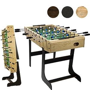 Tischfussball Belfast KLAPPBAR, 3 Farbvarianten: Schwarz / Holzdekor hell /...