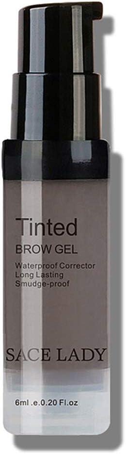 Bolso de 1bottle impermeable de cejas Tinte Gel Kit de Larga Duración de la frente del gel a prueba de manchas de cejas Maquillaje Líquido Color ...