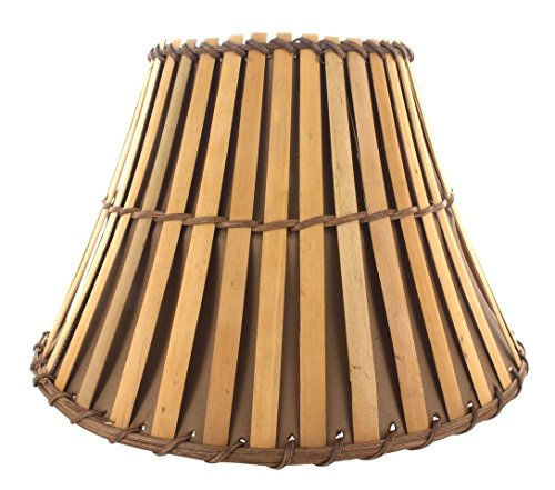 Upgradelights All Natural Bamboo 12 Inch Washer Fitted Lampshade (Bamboo Lamp Shade)