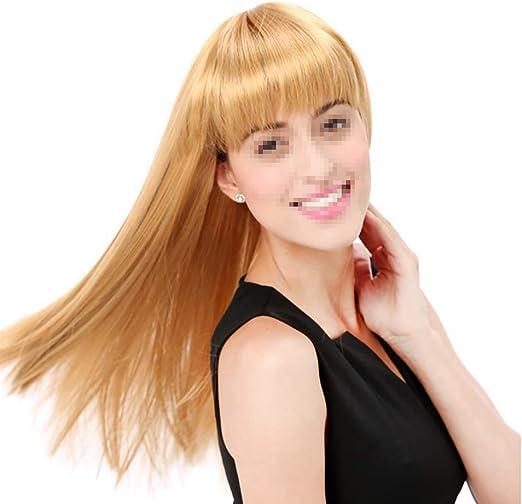 Postizos Peluca de pelo largo y recto de las mujeres Resistente al ...