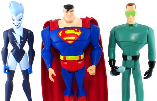 DC Universe Justice League Unlimited Fan Collection Action Figure 3Pack Livewire, Superman Weather Wizard (Action Figure Wizard)