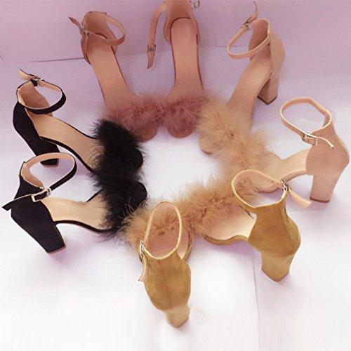 boda Sandalias oficina Zapatos Elegant Transer® de de Ladies trabajo de Tacones Zapatos altos Sandals Marrón Mujer 0gxxwFP6qd