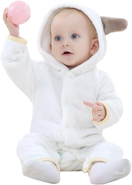 Landove - Buzo de invierno de franela para bebé con capucha y ...