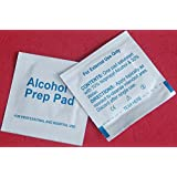 M.G.R.J Alcohol Prep Pads, 70% Isopropyl Alcohol - (Pack of 100) Alcohol Wipes