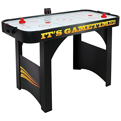 Sunnydaze 4-Foot Air Hockey Table, Sports Game for Arcade Room - Includes Electric Scorer, Pushers, and Pucks (Rectangular Table Via)