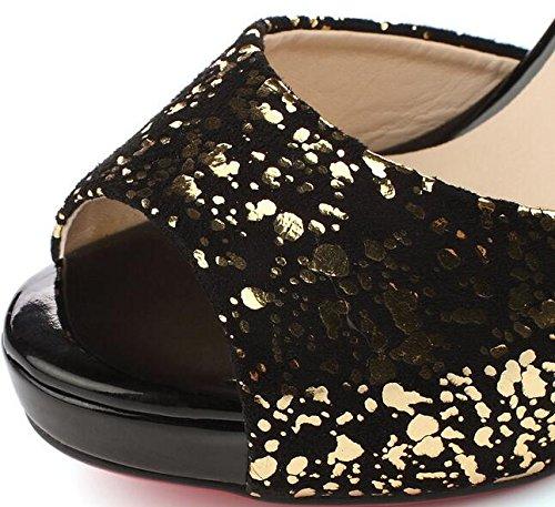 Laruise Tops Schwarz Low Sneaker Damen WYnqqSwX0