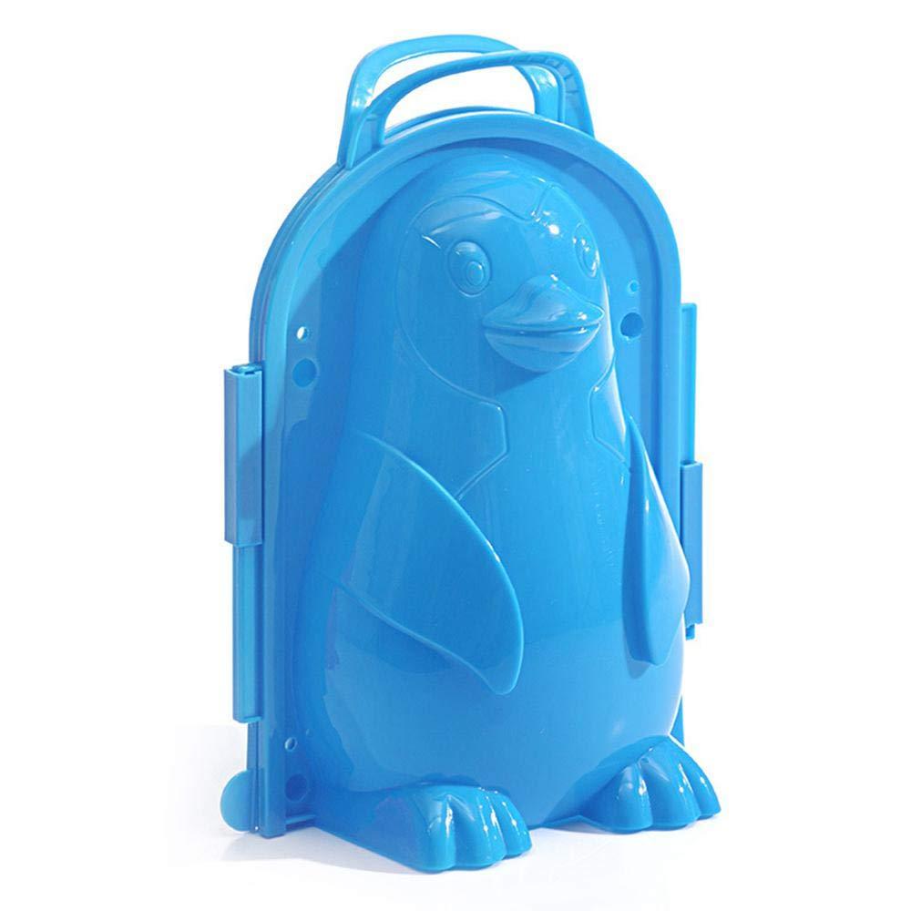 AOLVO Molde de Nieve para pingüino/Hombre, Juguetes de Nieve para niños al Aire Libre, Juguete 3D para Hacer muñecos de Nieve, Juguete para niños (Color al Azar) Juguetes de Nieve para niños al Aire Libre