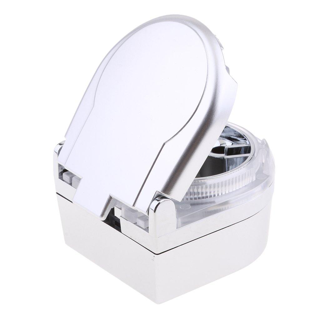 MagiDeal Auto Aschenbecher Portable mit Deckel f/ür Auto und Getr/änkehalter mit blauen LED Silber