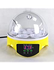 Egg Incubator, 7 Eggs Manually Turning Digital Incubator Poultry Hatcher with Clear Lid, Temperature Control Digital Incubators Breeder for Hatching Chicken Duck Goose