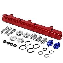 Integra/Civic Si/Del Sol/CR-V/Prelude Top Feed High Flow Fuel Injector Rail Kit (Red) - B16-20 EK EM DC