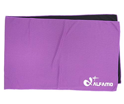 Cold Cool Cloth (Violet, S) Super Compact Ice Towels Nice Birthday GIFS for Active People Family Members Father Mother Dad Mom Husband Wife Grandson Granddaughter Co-Workers Clients Boss Best Friend