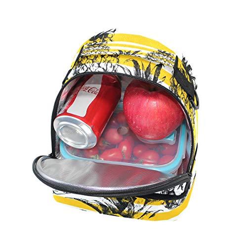 para rayas aislamiento almuerzo correa para Alinlo piña con de escuela pincnic ajustable con hombro Bolsa de con el de diseño de la 7qTwvYTnE
