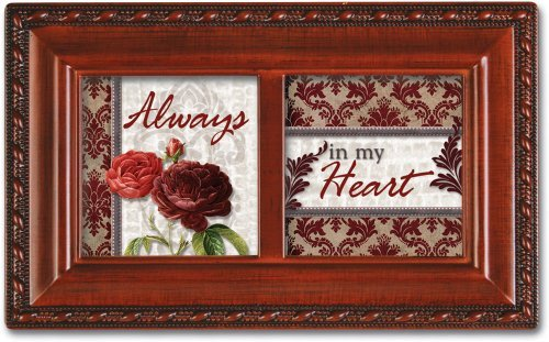 Always In My Heart Love Musical Music Jewelry Box Plays Unchained Melody by Cottage Garden