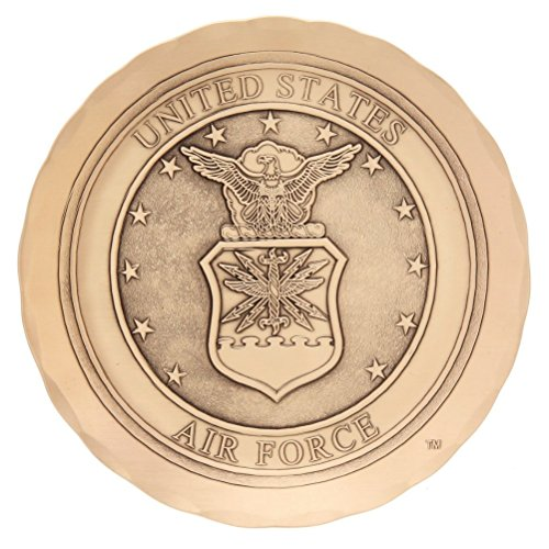 Military Coaster, Handmade in the USA, Metal Drink Coaster to Protect Tabletops, (US Air Force, - Force Air Coaster