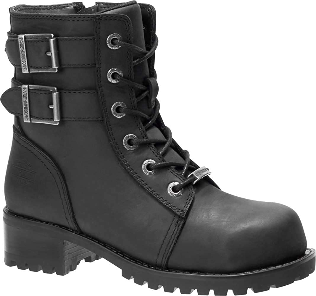 HARLEY-DAVIDSON FOOTWEAR Women's Archer ST Construction Boot, Black, 5.5