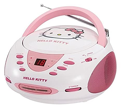 Hello Kitty CD Boombox with AM/FM Stereo Radio: Amazon.de: Elektronik