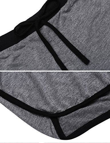 UNibelle Pigiama Due Pezzi Stampa Pigiami Estivi Donna Collo a U Vestaglia Ragazza Senza Maniche con Pantalocini S-XXL