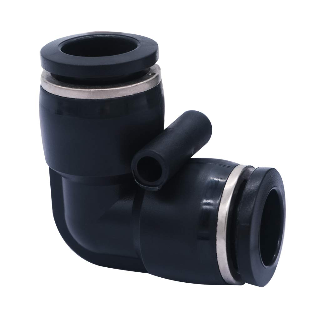 mxuteuk 10pcs 3//8 inch Tube OD Pneumatic Connect Elbow Fittings Tube Push Fit Fittings Tube Fittings Push Lock PV-3//8 Elbow Push to Connect Tube Plastic