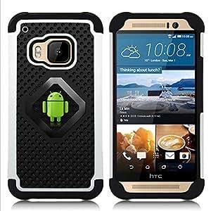 - Android Robot Green/ H??brido 3in1 Deluxe Impreso duro Soft Alto Impacto caja de la armadura Defender - SHIMIN CAO - For HTC ONE M9
