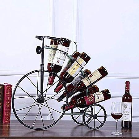 Estantería de vino Estante del vino del estante del soporte de vino con capacidad for 8 botellas de su vino favorito - elegante estante mirando al estilo de vinos for complementar cualquier espacio es