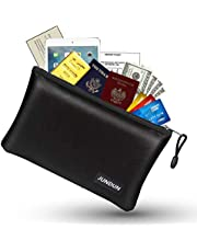 JUNDUN Fireproof Document Bags,Waterproof and Fireproof Money Bag,Fire Safe Storage Pouch with Zipper for Documents,Cash and Passport